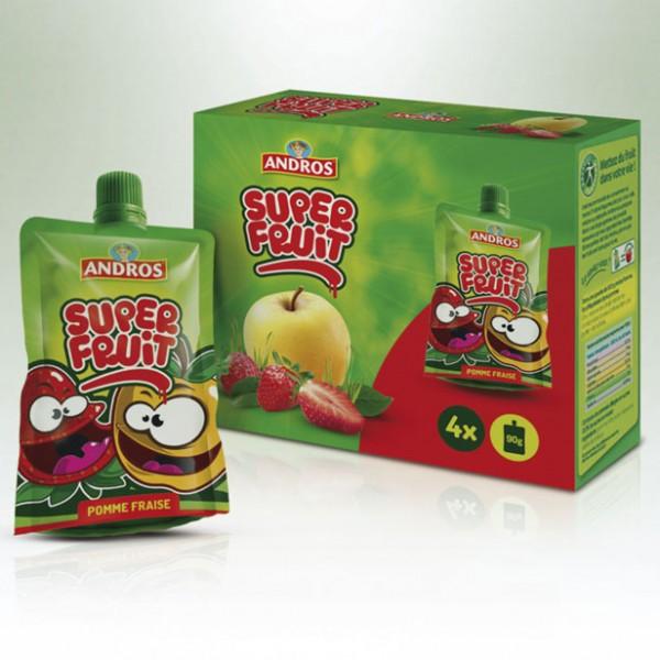 Design du Packaging Super Fruit Andros