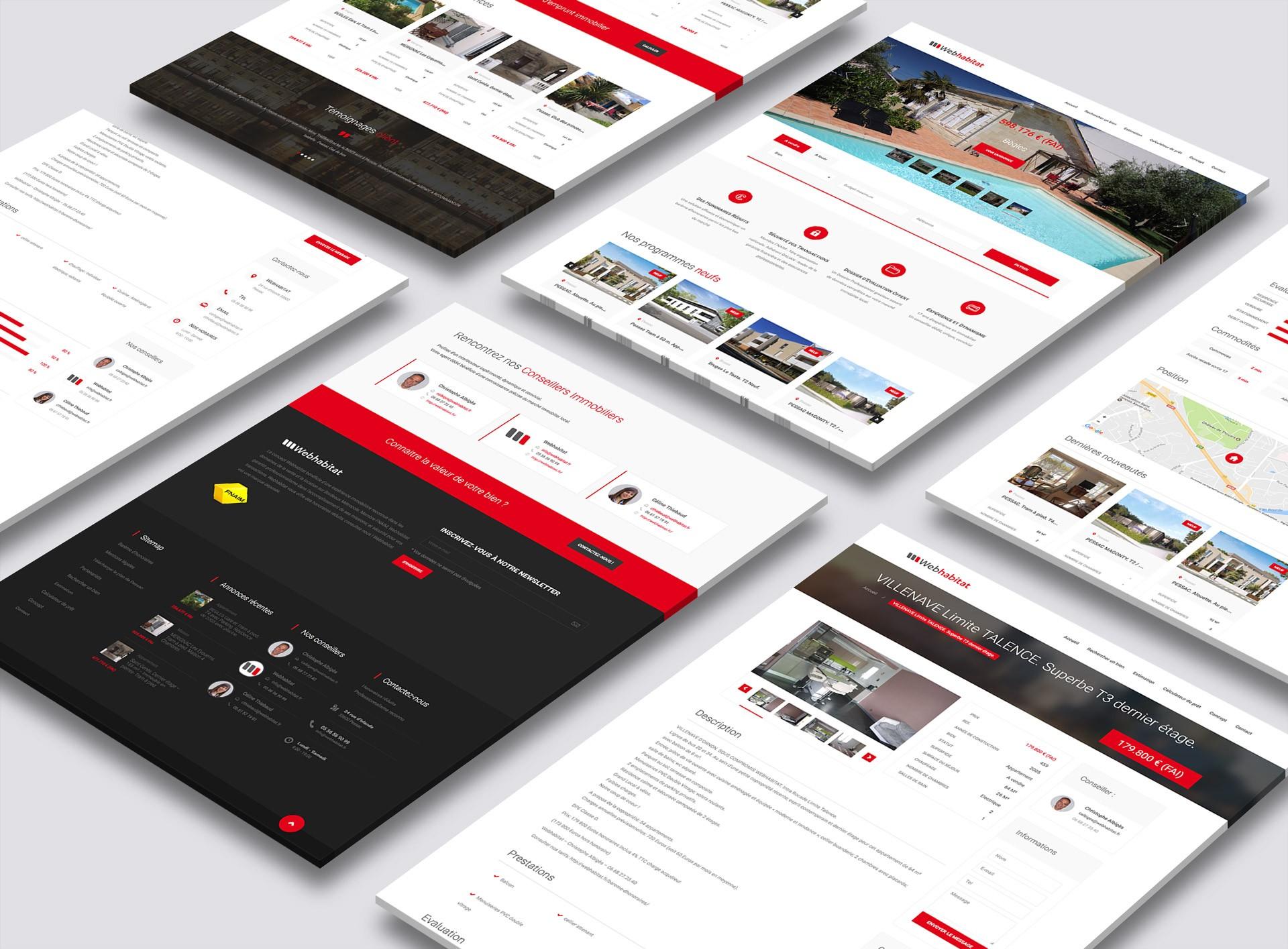 Création du site Internet de l'agence immobilière webhabitat