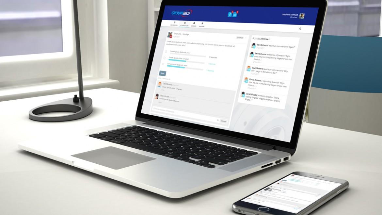 Design et développement de l'intranet du groupe BIO7