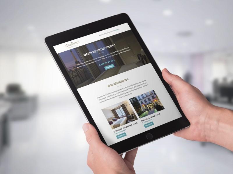 Création et réalisation Newsletters responsives, The Ascott Limited, Citadines Apart'hotel